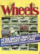 WHEELS MAY 83 XE EFI Mazda 626 BROCK Commodore SS CHARGER GT40 CAMIRA Wagon
