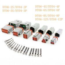 Deutsch DT06/04 2-12 Pin/Way Sealed Waterproof Electrical Connector Plug Kits