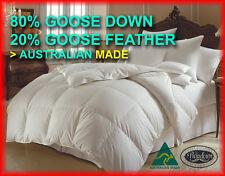 ALL SIZES new Australian made 80% white goose down doona quilt 7 blanket winter
