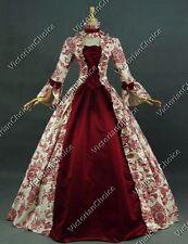 Renaissance Victorian Antique Floral Prom Dress Theater Reenactment Clothing 138
