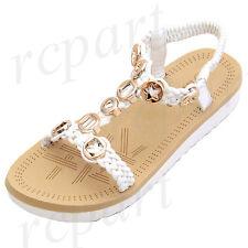 New girl kids sandals white elastic casual open toe summer