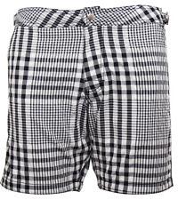Hm Para Hombre Blanco Y Negro Cuadros Shorts de baño con forro de malla