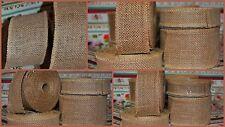 "Best Burlap Hessian Jute Wire Edged Natural Rustic Ribbon (1"" 2"" 3"" wide)"