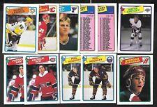 1988-89 OPC O PEE CHEE NHL HOCKEY CARD ERROR VARIATION 1-132 SEE LIST