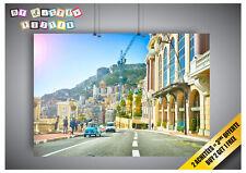 Poster Routes Maison Monaco Monte-Carlo Rue Villes