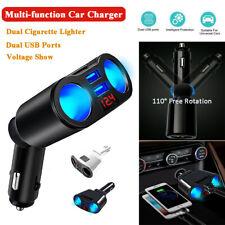 Digital LED Car Cigarette Lighter Socket Charger Adapter Plug Dual USB 3.1A 12V