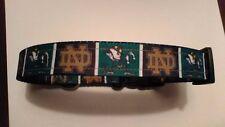 Handmade Notre Dame Fighting Irish Dog Collar adjustable nylon