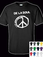 De La Soul Peace Logo 100% Cotton  Adult  T-Shirt - All Sizes & Colours