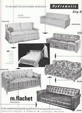 Publicité ancienne Hydramatic canapés américain 1962 issue de magazine