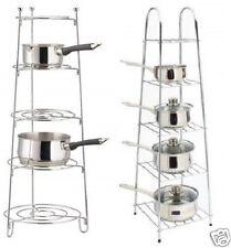 5 niveles de cromo Cacerola Olla Sartén de almacenamiento Soporte estante sostenedor de la cocina estante