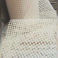 Pearl Ivory Mesh Ribbon Wedding Cake Decoration 24 12 6 4 2 Row Craft Trim Band