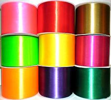 """100mm / 4 """"Nastro di Raso S / schierato W / spigolo, Scegli Colori e la lunghezza, ART 54033"""