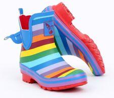Evercreatures Rainbow Ankle Wellies Rubber Ankle Wellington Boots Rainbow Wellys