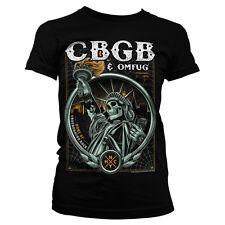 Officially Licensed CBGB- Statue of Underground Rock Women T-Shirt S-XXL Sizes
