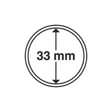 Capsules numismatiques rondes 33 mm pour monnaies de collection.
