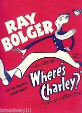 "Ray Bolger ""WHERE'S CHARLEY?"" Al Hirschfeld / Frank Loesser '50 Souvenir Program"