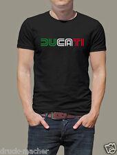 T-Shirt DUCATI Tricolore  - alle Größen bis XXXL  Desmo Monster SIEBDRUCK!!!