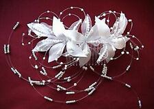 Haargesteck Kopfschmuck Haarschmuck Hochzeit Kommunion weiß creme ivory bordeaux