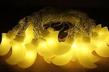 20 LED Crescent Moon Nursery Baby Decor, Fairy String Light, Wall decor, Baby