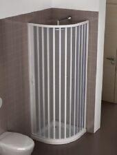 Mampara ducha semi-circular extensible en PVC apertura lateral, una hoja
