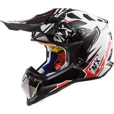 LS2 MX470 SUBVERTER EMPEROR Casque Motocross Enduro Blanc Rouge MX QUAD ATV