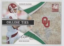 2009 Donruss Elite College Ties Green #12 Juaquin Iglesias Oklahoma Sooners Card
