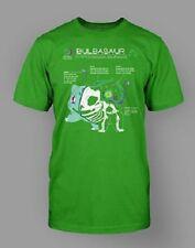 Bulbasaur Anatomy T-Shirt Pokemon Starter Tee Tshirt Kelly Green