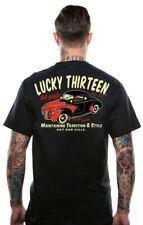 Lucky 13 T-Shirt Shirt Men Old 49 Black/Schwarz