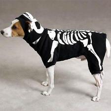 Casual Canine GLOW BONE Skeleton Dog Halloween Costume Glow-In-The-Dark Spooky
