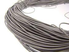 Lederschnur (ab 0,34€/m) Rund 1,5 mm. Grau. Lederband. Länge: wählbar