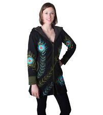 Farbenfroher Hippie Sweatmantel mit ausgefallenem Muster und Zipfelkapuze
