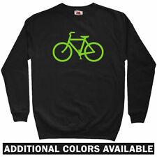Bike Route Sweatshirt - Cycling Biking Bicycle Fixie Crewneck - Men S to 3XL