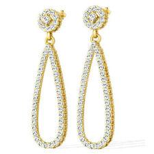 Diamantohrringe aus 750/18K Gelbgold mit 2.00 Karat Brillanten + Zertifikat
