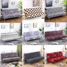 Floral All-inclusive Sofa Cover Solid Folding Armless Elastic Futon Slipcover