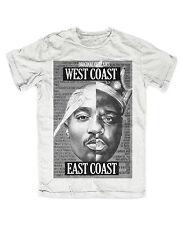 2pac Biggie Outlawz t-shirt blanca culto, Tupac, Notorious B.l G, eastCoast, westcoast