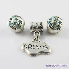 Sweet Dreams Bead & Charm Gift Set fit European Charm Bracelet Select Colour