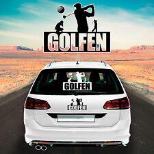 Autoaufkleber Autofolie Sticker Aufkleber Sport Golf Golfer GOLFEN 2