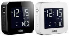 Digital Braun alarm clock, backlight, alarm + snooze, global radio controlled