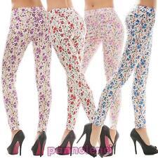 Leggings donna pantaloni fiori pantacollant fuseaux tapestry nuovi Q-8170