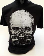Cráneo GASMASK Camiseta para hombre S-2XL post apocalíptico Goth Rock Biohazard veneno