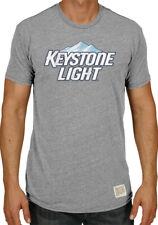 Keystone Light Brewing Company Retro Brand Vintage Beer Tri-Blend T-Shirt