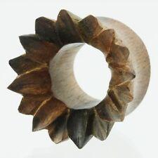 6mm - 22mm Legno Wood Double Flared chirurgico Flesh Tunnel Ear Plug Orecchio Piercing 318