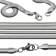 Cadena 55 cm Snake Serpiente plana Collar para Hombre y Mujer Acero inoxidable