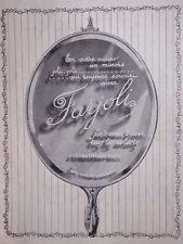 PUBLICITÉ 1923 LESQUENDIEU FARJOLI FARD CRÈME DISCRET TOUS LES COLORIS - MIROIR