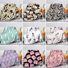 Coral Fleece Blanket Adult Child Bedding Blankets Sofa Couch Bedroom Living Room