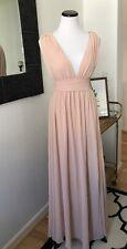 Lulus Royal Blue Blush Maxi Dress XS S M Prom Bridesmaid Wedding V neck Long