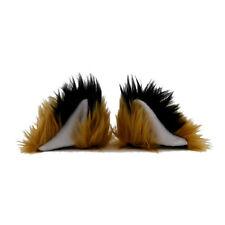 Orejas de gato y cola Set Tan//marrón imitación piel instantáneo Elaborado Vestido Talla Única Unisex Nuevo