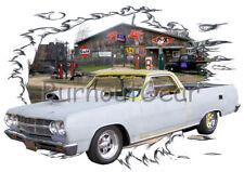 1965 Gray Primer Chevy El Camino Custom Hot Rod Garage T-Shirt 65 Muscle Car Tee