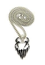 "Hip Hop Mushroomhead Symbol Pendant 5mm 24"" Cuban Chain Necklace XSP471CC"