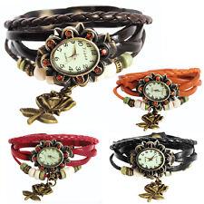 Lederarmbanduhr Serie 3- Lederarmband Uhr Armbanduhr Analoguhr Damenuhr-Watch